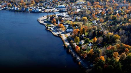 mahone bay town overhead